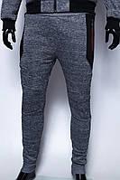 Спортивные штаны мужские утепленные GS 7969_1 серый меланж