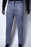 Спортивные штаны утепленные мужские Nike 9915 синий меланж реплика