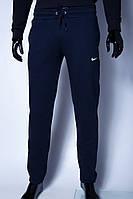 Спортивные штаны утепленные мужские Nike 9916 синие реплика