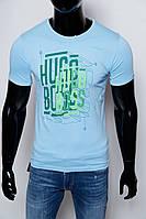 Футболка мужская HB 4433-5 голубая реплика