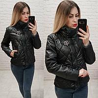 Демисезонная куртка 2019 ,арт. 502, цвет черный, фото 1