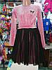 Красное нарядное платье с люрексом для девочки 4 - 9 лет