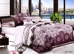 Семейный набор хлопкового постельного белья из Полисатина №008 Черешенка™