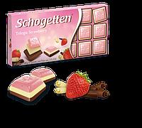 Шоколад Schogetten Trilogia Strawberry ( Трилогия клубника), Германия, 100 г, фото 1