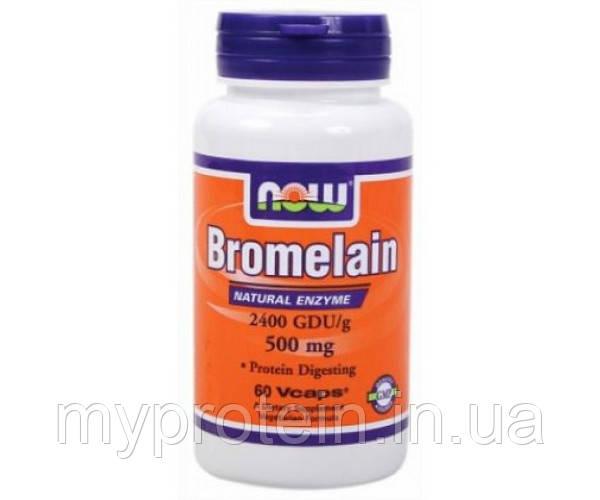 NOW Бромелайн Bromelain 500 mg 120 veg caps