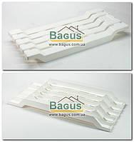 Сиденье в ванну пластиковое цельнолитое (цвет - белый)