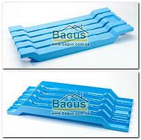 Сиденье в ванну пластиковое цельнолитое (цвет - голубой)