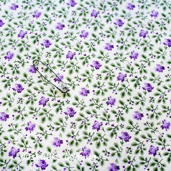 38010 Сиреневый луг. Ткань с мелким фоновым рисунком. Хобби ткани для творчества.
