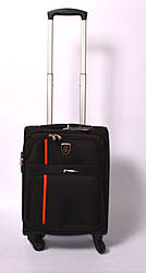 Тканевый дорожный чемодан на 4 - х колёсах ,малый