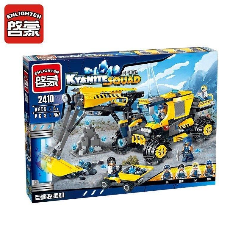 Конструктор Enlighten Brick 2410 Kyanite Squad Горнодобывающая команда 457 дет