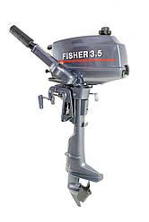 Лодочный мотор Fisher T3.5BMS + чехол в подарок!, фото 3
