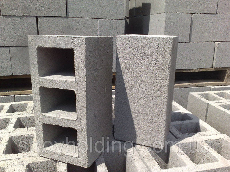 Прессованный камень, шлакоблок 37х17х17 (Усиленный)