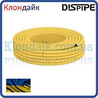 Труба гофрированная из нержавеющей стали  для газа 15HFPY DISPIPE, отожженная в полиэтилене желтая