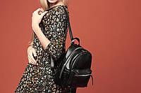 VM-Villomi Женский рюкзак черного цвета из высококачественной эко-кожи