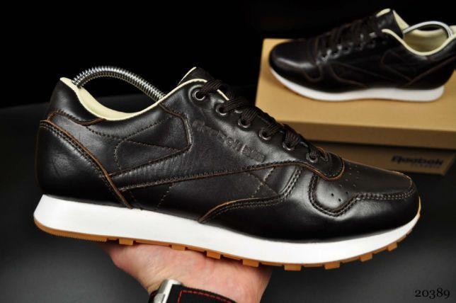 uk availability 78c20 52c86 Кроссовки Reebok Classic Leather мужские кожаные коричневые. [ 41 42 43 44  45 ]: продажа, цена в Одессе. кроссовки, кеды повседневные от ...