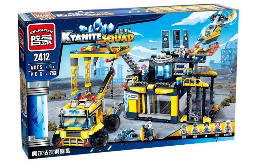 Конструктор Enlighten Brick 2412 Kyanite Squad Исследовательская база Альфа 753 дет