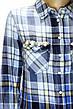 Жіноча сорочка-туніка в клітинку з мережевом,бісером ,перлинками  Saloon, фото 4