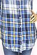 Жіноча сорочка-туніка в клітинку з мережевом,бісером ,перлинками  Saloon, фото 5