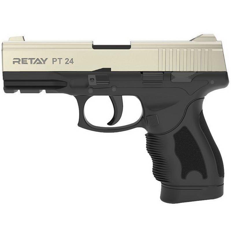 Сигнальний пістолет, стартовий Retay Taurus PT24 (9мм, 15 зарядів), сатин