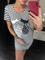 Туника Nicoletta, домашняя туника, ночная сорочка женская. Размеры норма, размеры батал., фото 1