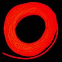 Холодный неон / электролюминисцетный провод 3-го поколения 5 мм, красный (розница, опт)