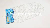 SPA-коврик на присосках антискользящий  (матовый белый) K045