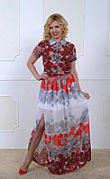 Женское летнее платье из королевского шифона
