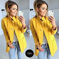 Женское пальто кашемировое цвета: серый, пудра, бежевый, жёлтый., фото 1