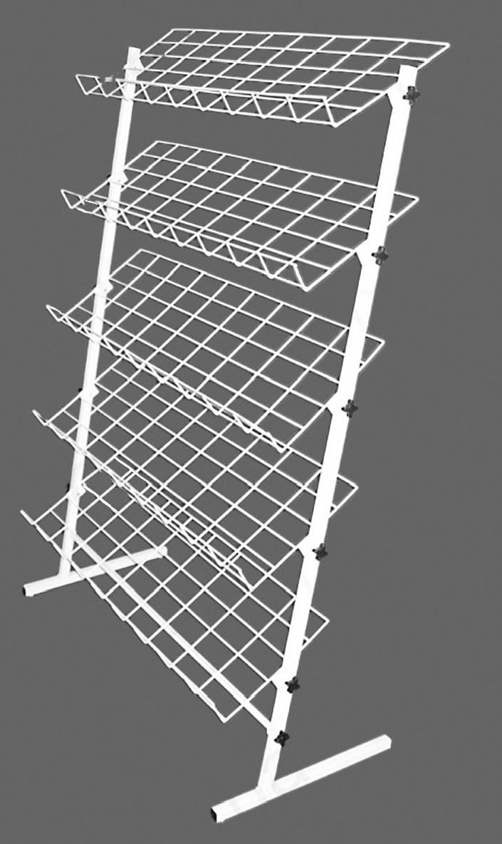 Стійка 1300/660 мм металева для взуття на 5 полиць