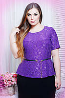 Блуза из гипюра ПАУЛА фиолетовый, фото 1