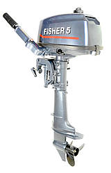 Лодочный мотор Fisher T5BMS(двухтактные лодочные моторы), фото 3