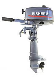Лодочный мотор Fisher T5BMS(двухтактные лодочные моторы), фото 2