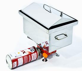 Коптильня для туристов в комплекте с газовой печкой.