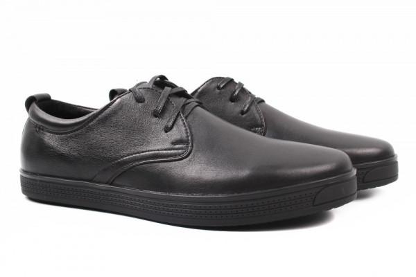 Туфли комфорт Davis натуральная кожа, цвет черный