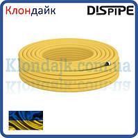 Труба гофрированная из нержавеющей стали для газа 20HFPY DISPIPE, отожженная в полиэтилене желтая