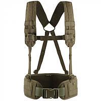 M-Tac пояс тактический с плечевыми ремнями Scout олива