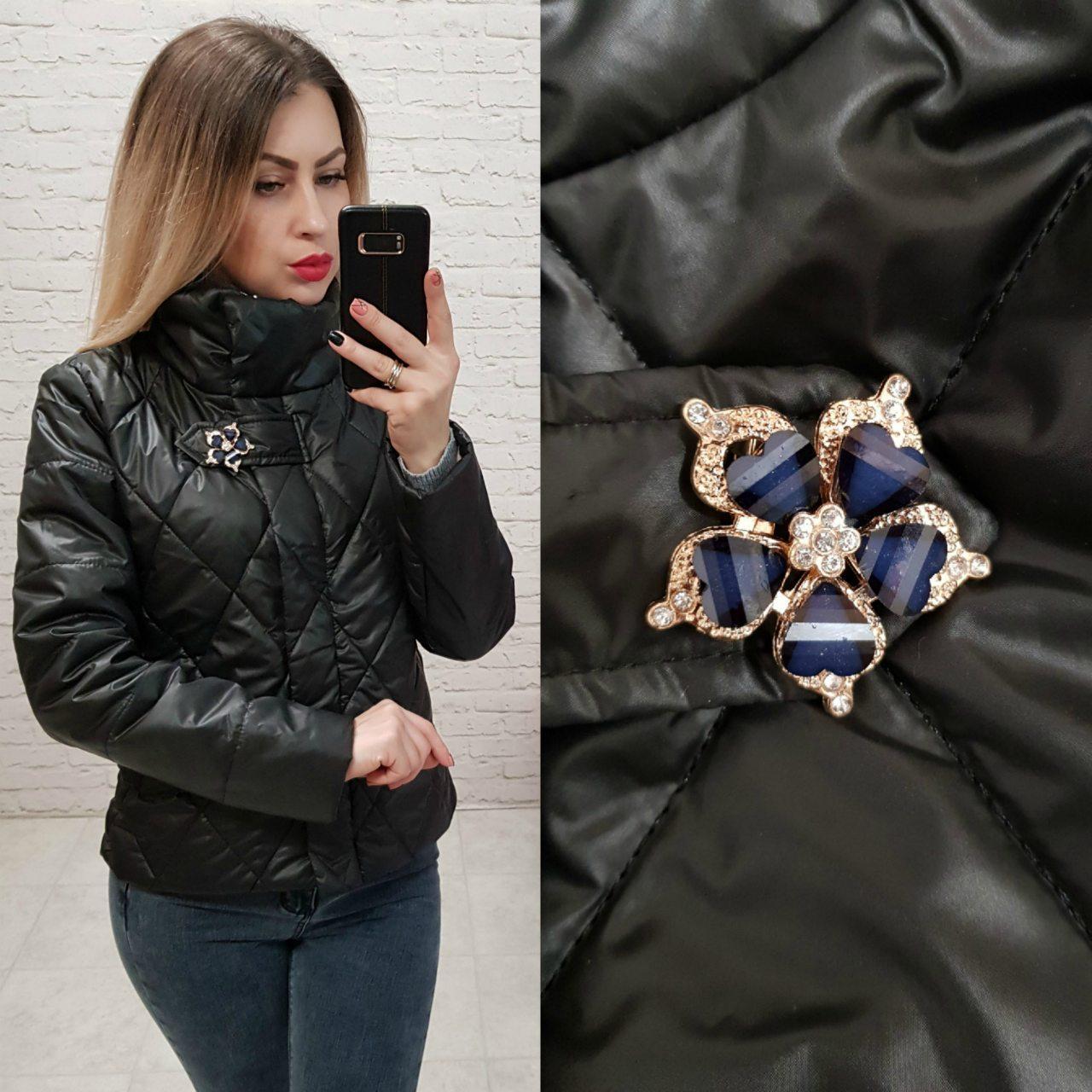 Куртка ветровка утепленная  арт. 502 черный
