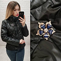 Куртка ветровка утепленная  арт. 502 черный, фото 1