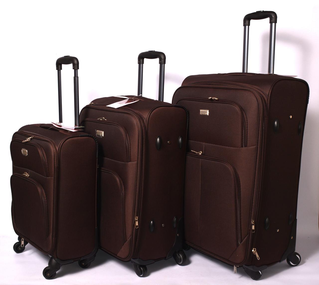 Тканевый дорожный чемодан BONTOUR на 4 - х колёсах ,малый,средний ,большой