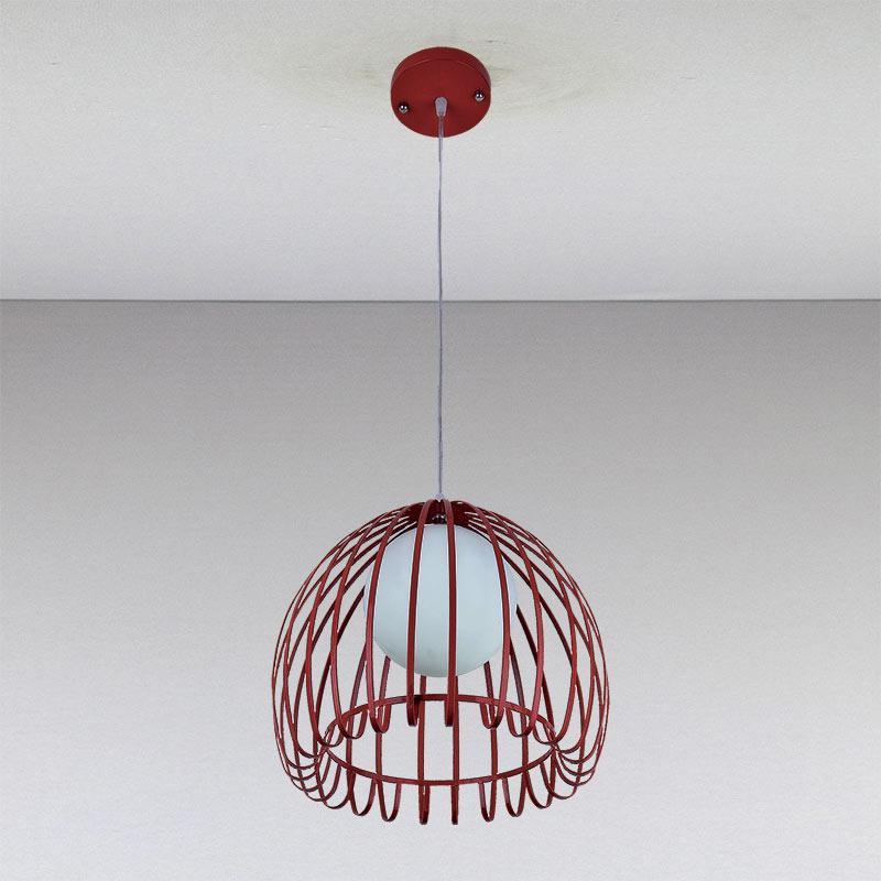 Люстра «Антония 1» красная LS-11034-1 красный