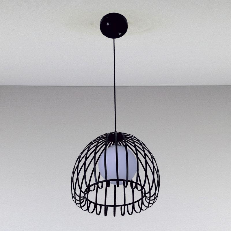 Люстра подвес на одну лампу  черная LS-811034-1 черный