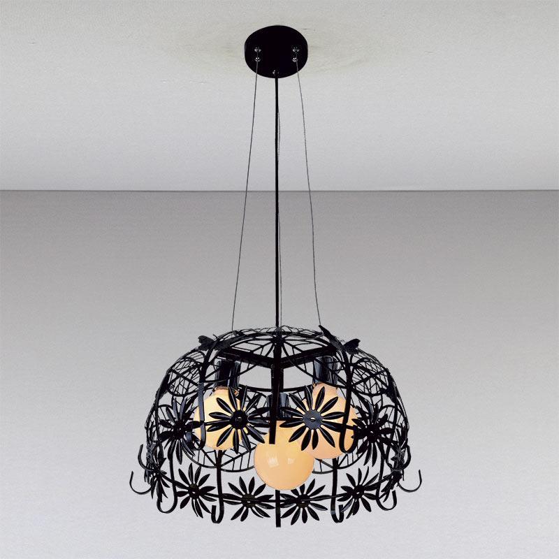 Люстра «Баруна 3» черная LS-11041-3 черный