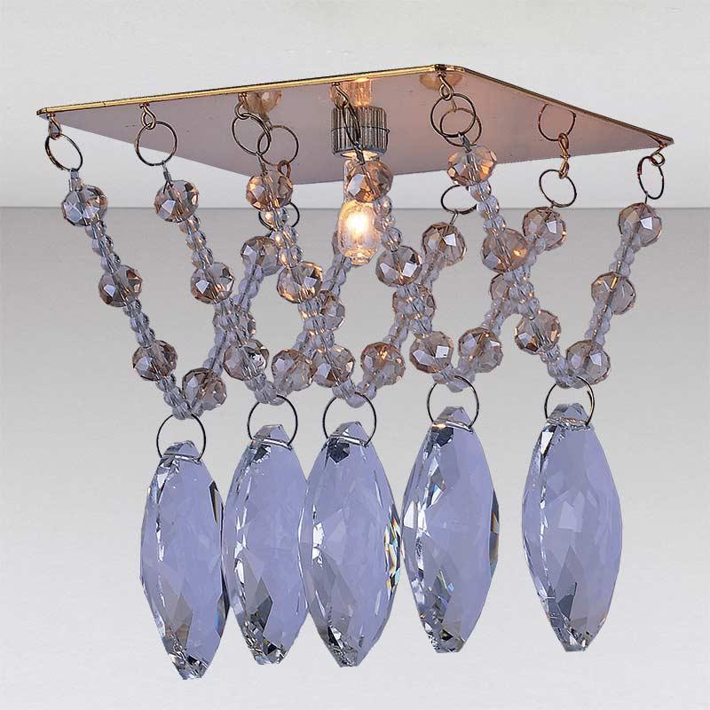 Точечный хрустальный светильник,  золото LS-11182 GD/CL