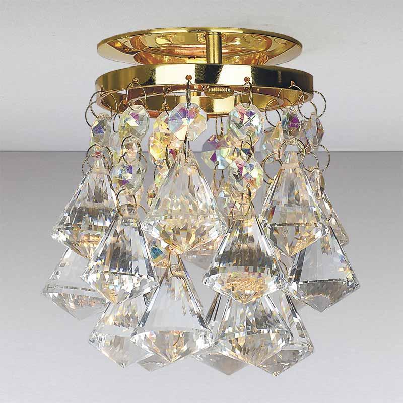 Точечный хрустальный светильник  золото LS-11188 GD/CL+RBG