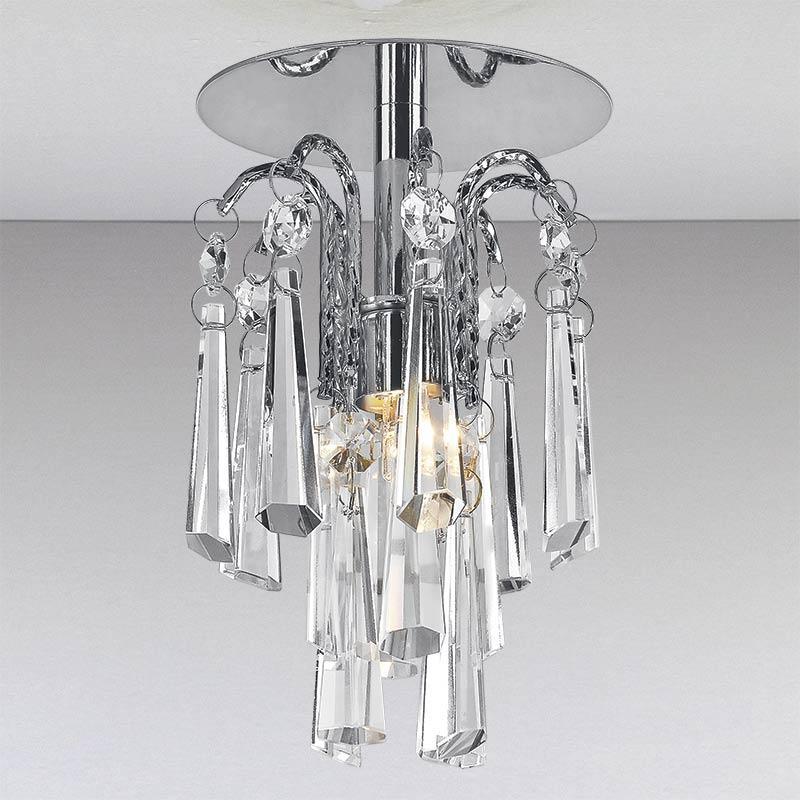 Точечный хрустальный светильник, хром LS-11191 CH/CL