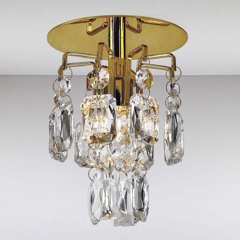 Точечный хрустальный светильник, золото LS-11193 GD/CL