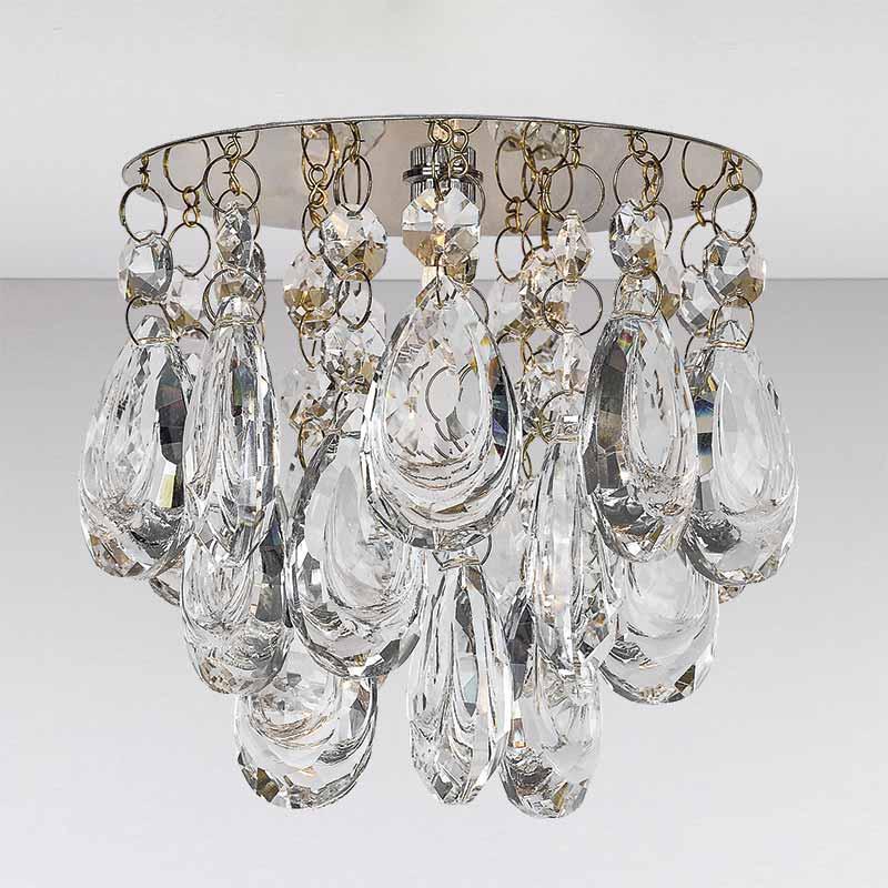 Точечный хрустальный светильник, золото LS-11194 GD/CL