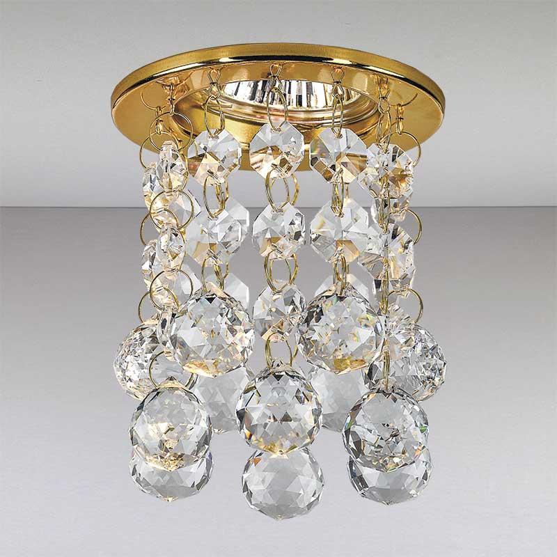 Точечный хрустальный светильник, золото LS-11199 GD/CL