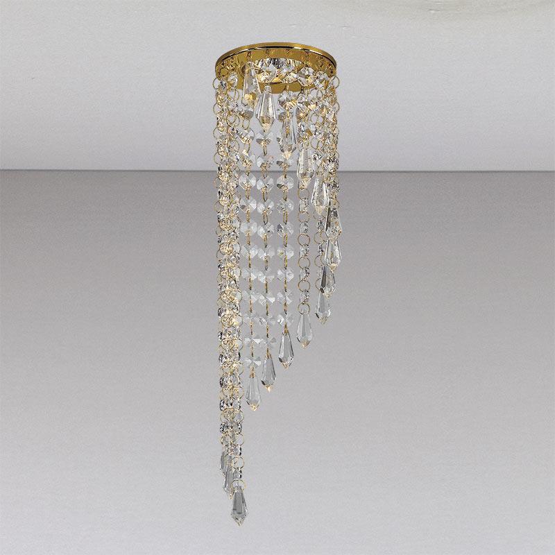 Точечный хрустальный  светильник, золото LS-11204 GD/CL