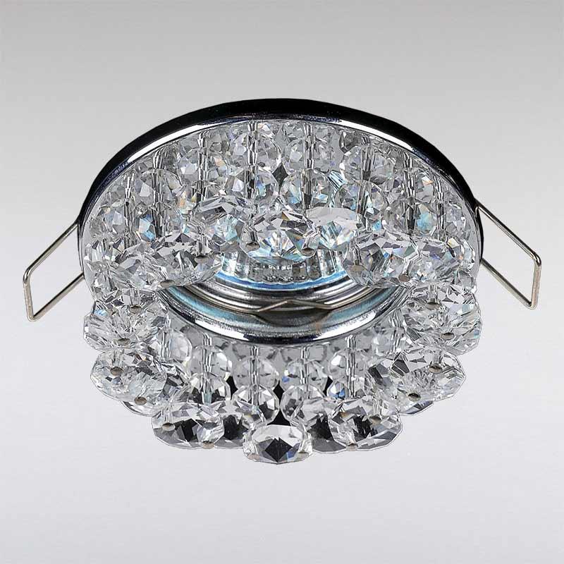 Точечный хрустальный светильник, хром LS-11211 CH/CL